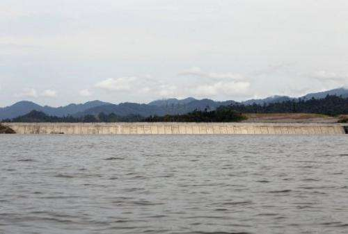 A general view of the Bakun Hydroelectric Dam on the Balui River, in Malaysia's Sarawak state, on September  21, 2011