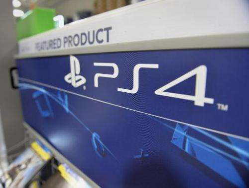 A Sony PlayStation 4 console display in a Best Buy store on the upper East Side of Manhattan November 14, 2013 in New York