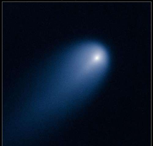 Astronomers detect dust feature in comet ISON's inner coma