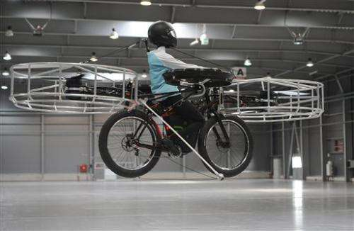 Czechs present bicycle that can fly