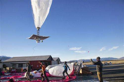 Google begins launching Internet-beaming balloons