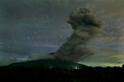 More gases erupt from rumbling Indonesian volcano
