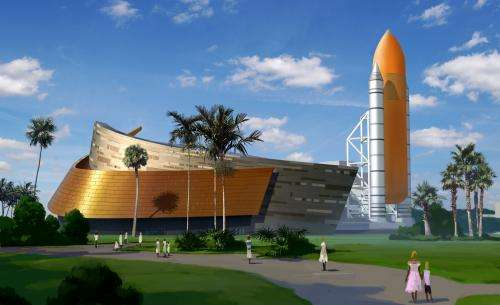 Plastic wrapped Shuttle Atlantis slated for grand public unveiling in June