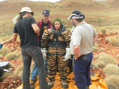 The tough task of finding fossils while wearing a spacesuit