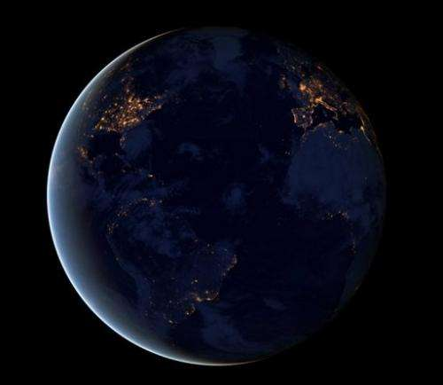 This NASA  image obtained December 6, 2012 shows a global view of Earth's city lights