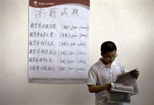 Tightest job market ever for China's college grads