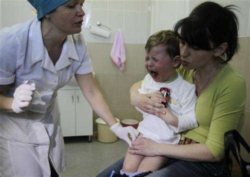 Ukraine kids at risk from low vaccination rates