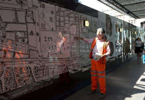 Work on new railway line digs up London history