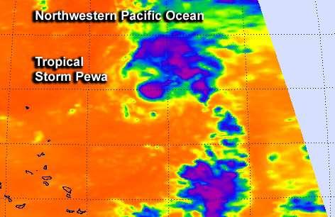 NASA sees Tropical Storm Pewa temporarily weaken