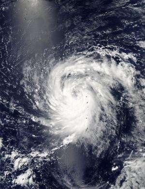NASA satellite sees 2 views of Tropical Storm Soulik over Marianas Islands