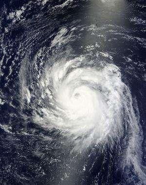 NASA satellites see strong thunderstorms surround Typhoon Soulik's center