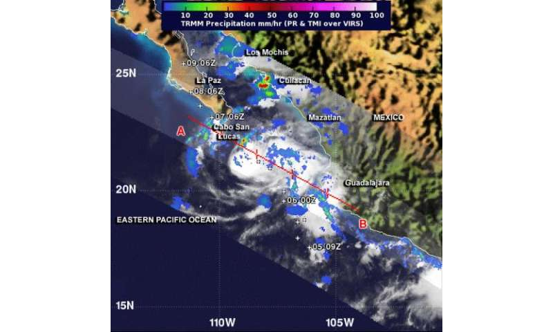 NASA sees Tropical Storm Lorena bringing heavy rains to Mexico's west coast