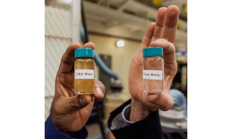 Cleaning 'produced water' from natural gas wells, potential for improved desalination plants for developing countries