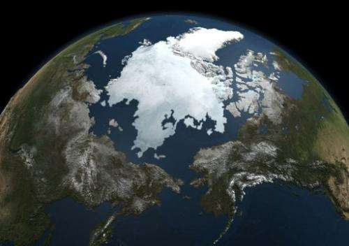 A picture taken on September 3, 2010 from NASA's Aqua satellite shows the Arctic sea ice
