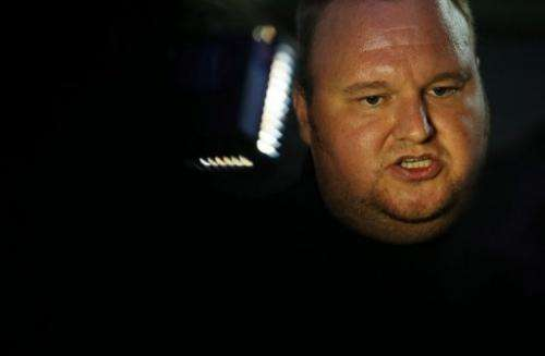 Megaupload founder Kim Dotcom speaks to the media at the launch of his new website in Auckland on January 20, 2013