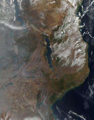 Agricultural fires in Mozambique and Malawi