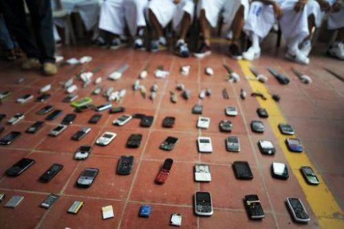 Mobile phones are displayed on May 20, 2013