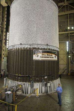 NASA engineers crush fuel tank to build better rockets