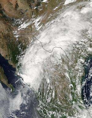 NASA sees remnants of Hurricane Manuel soaking northern Mexico, Texas