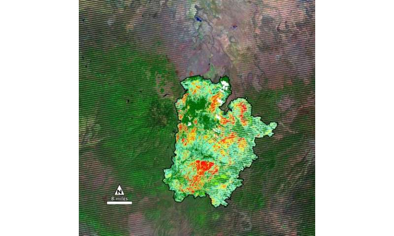 NASA's Landsat revisits old flames in fire trends