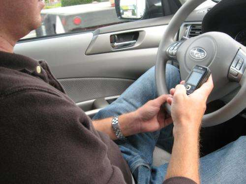 Nearly half of state's distracted drivers are texting