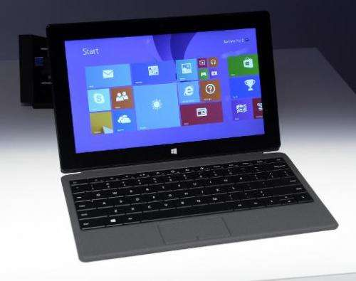 The Microsoft Surface pro 2 is seen during a news conferece in New York September 23, 2013