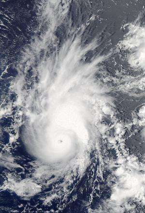 NASA satellite sees Pewa become a typhoon