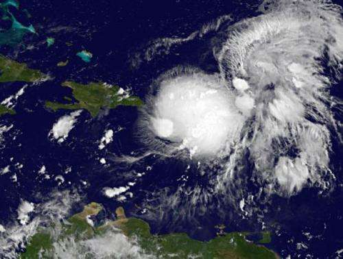 NASA satellite animation records birth of Tropical Storm Gabrielle near Puerto Rico