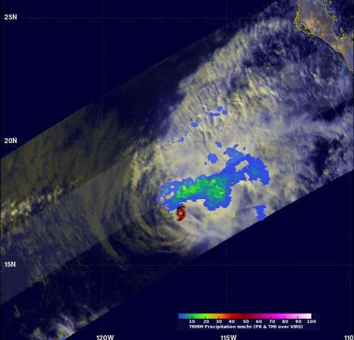 NASA sees Tropical Storm Raymond fading fast
