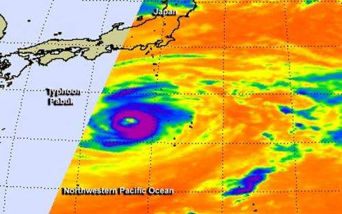 NASA satellites see Typhoon Pabuk's shrinking eye close