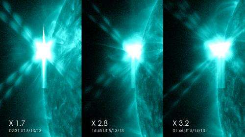 3 X-class flares in 24 hours