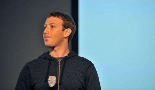 Facebook CEO Mark Zuckerberg answers questions during a media event in Menlo Park, California on March 7, 2013