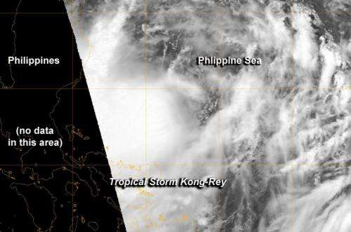 NASA catches Tropical Storm Kong-Rey form in northwestern Pacific