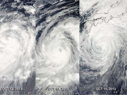 Satellite sees extra-tropical Typhoon Wipha affecting Alaska