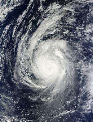 NASA satellites investigate Typhoon Francisco heading for Japan