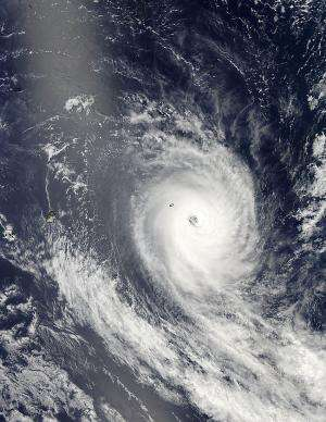 NASA sees Tropical Cyclone Amara spinning down