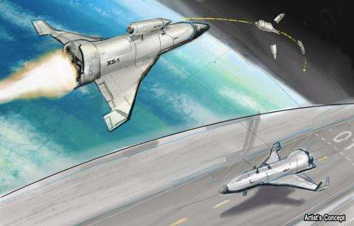 Experimental spaceplane shooting for 'aircraft-like' operations in orbit