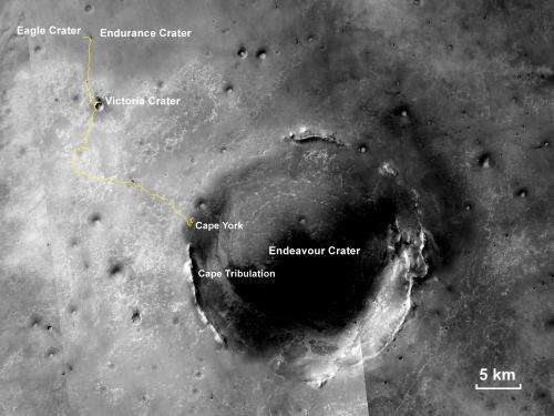 Mars rover Opportunity trekking toward more layers