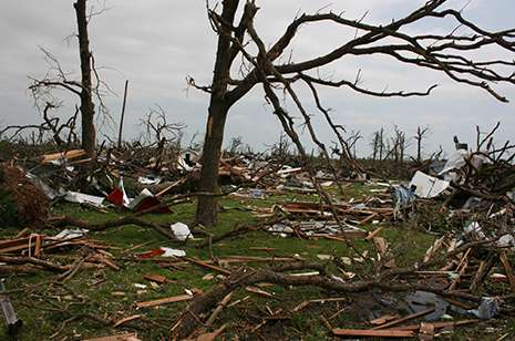 New study shows tornadoes tend toward higher elevations and cause greater damage moving uphill
