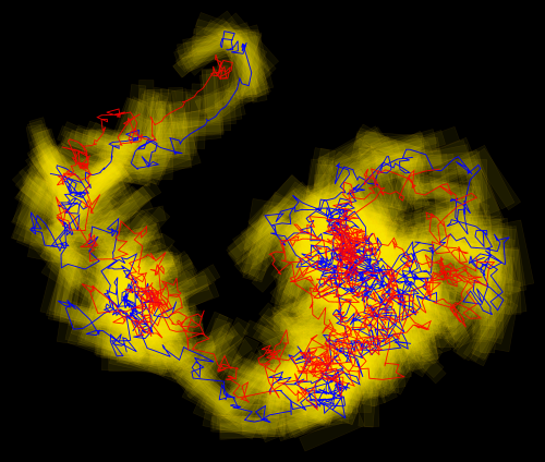 Researchers find boomerang shaped colloid does not conform to Brownian motion