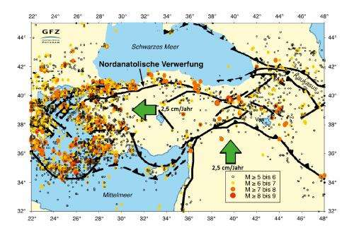 Seismic gap outside of Istanbul