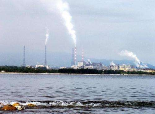 A cellulose plant near the Siberian town of Baikalsk on August 11, 2003