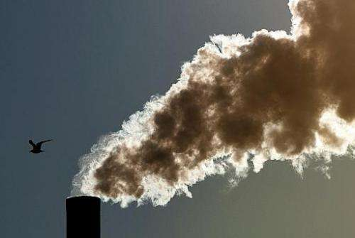 A cloud of smoke goes out from a chimney in Seclin, northern France on February 2, 2012