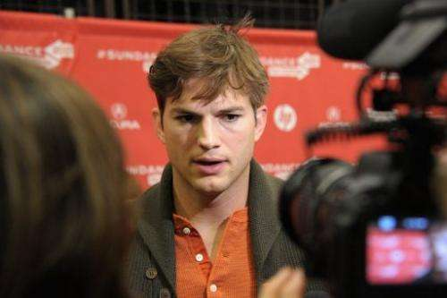 "Actor Ashton Kutcher attends the ""jOBS"" Premiere during the 2013 Sundance Film Festival on January 25, 2013"