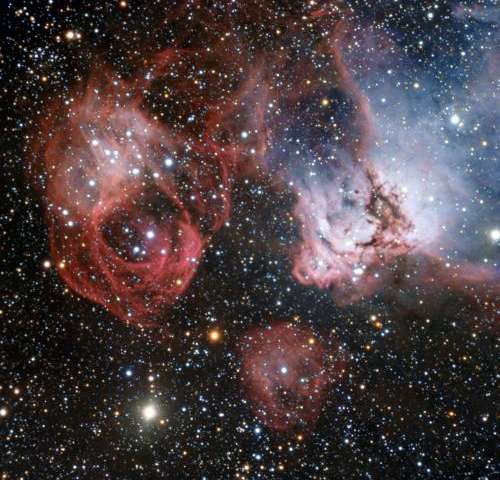 A fiery drama of star birth and death
