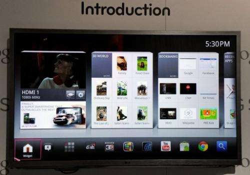 A G6 series LG Smart TV with Google TV is displayed on January 11, 2012 in Las Vegas, Nevada