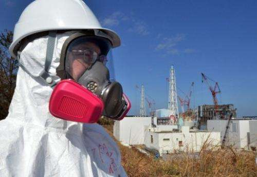 A journalist visits the stricken Fukushima nuclear power plant on February 28, 2012