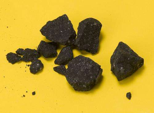 Analysis of Sutter's Mill fragments reveals organic compounds not seen in other meteorites
