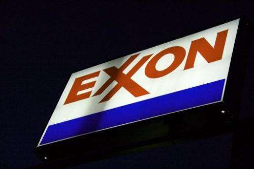 An ExxonMobil sign is seen at a gas station on September 20, 2008 in Manassas, Virginia