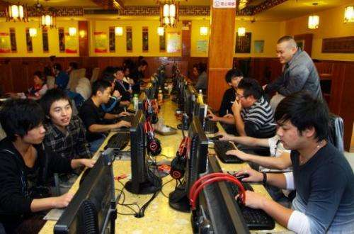 An Internet cafe in Jiashan, east China's Zhejiang province, November 2, 2012